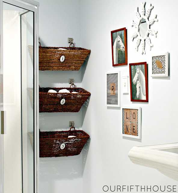Wicker Basket Vertical Storage by Our Fifth House