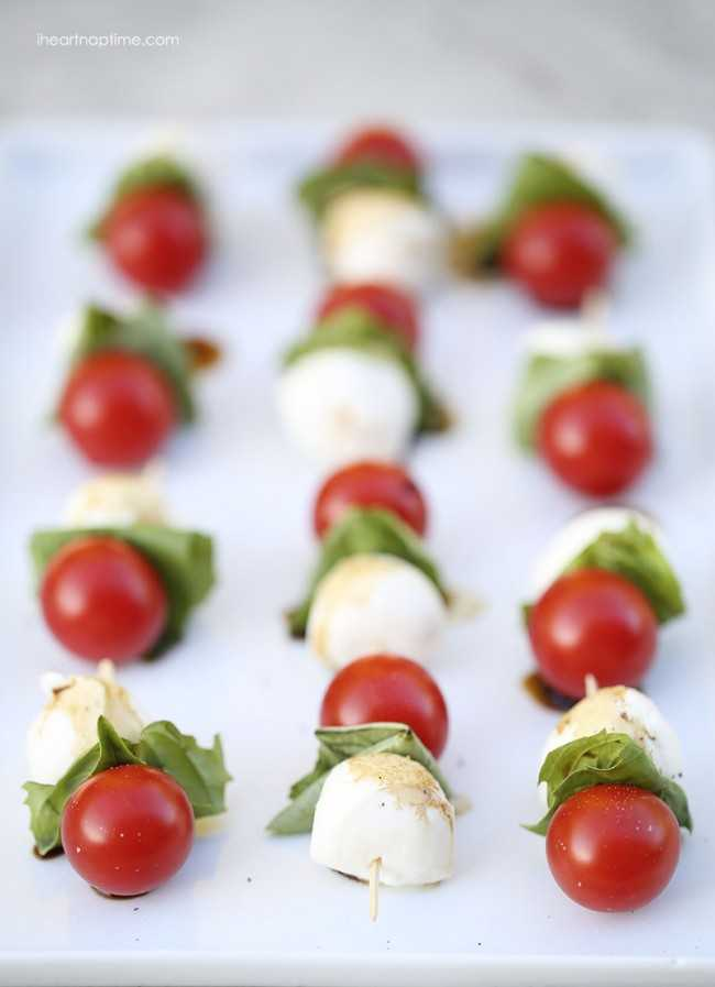 Caprese Kabobs, 25 Best Appetizers to Serve