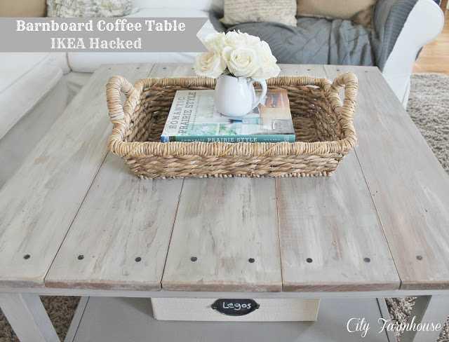 IKEA Hack Barnboard Coffee Table