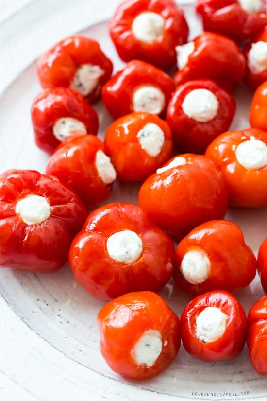 Goat Cheese Stuffed Peppadews, 25 Best Appetizers to Serve