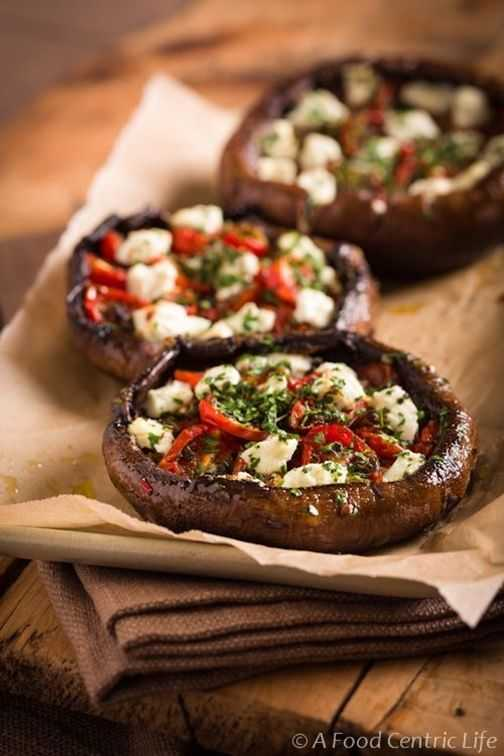 Stuffed Portobello Mushrooms with Roasted Tomatoes and Goat Cheese, 25 Best Appetizers to Serve