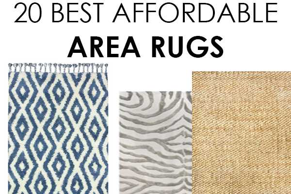 20 Affordable Area Rugs