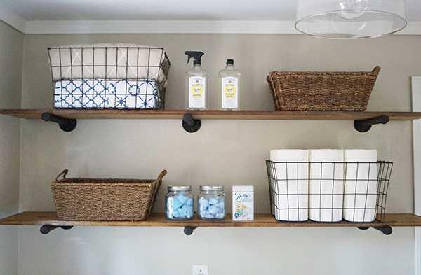 20 Laundry Room Organization Ideas + Hacks - A Blissful Nest on Laundry Room Shelves Ideas  id=99504