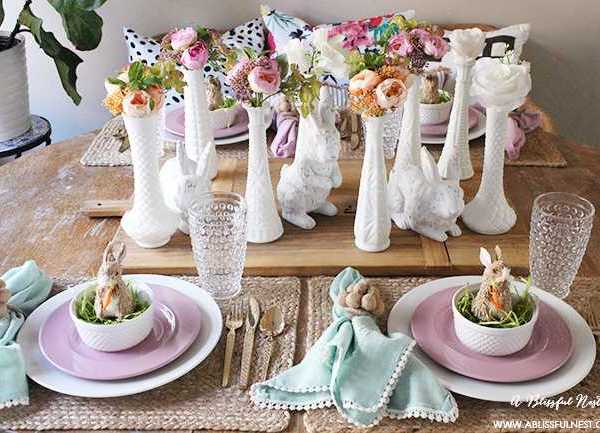 Easter Table Decor With Soft Spring Touches