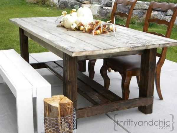 DIY Farmhouse Table by Thrifty and Chic, 20 DIY Farmhouse Projects