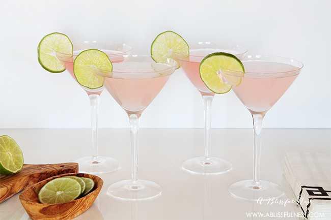 Watermelon Lemonade Martini Cocktail Recipe by A Blissful Nest