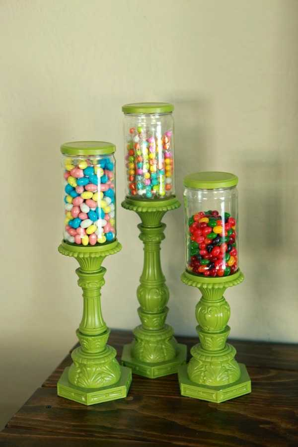 Candy Jar Pedestals, 20 Ways to Use Mason Jars