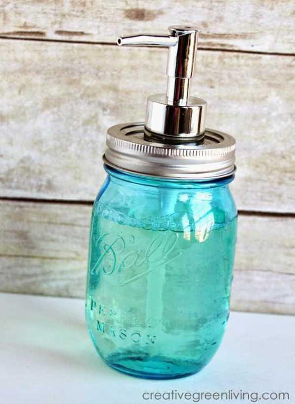 Mason Jar Soap Pump, 20 Ways to Use Mason Jars