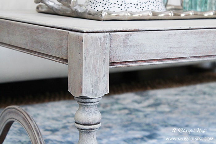 Seal your weathered wood finish with a final coat of polyurethane to preserve and protect your furniture's surface.