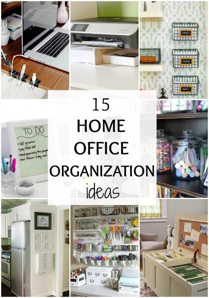 15 Home Office Organization Ideas via A Blissful Nest