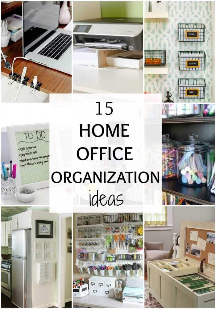 15 Home Office Organization Ideas Via A Blissful Nest