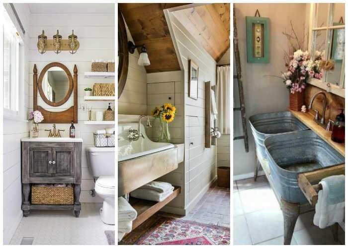 20 Best Farmhouse Bathrooms to Get That Fixer Upper Style! on Farmhouse Bathroom  id=54957