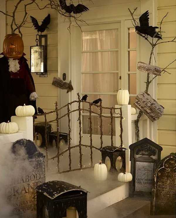 20 Fabulously Spooky Halloween Front Porches A Blissful Nest