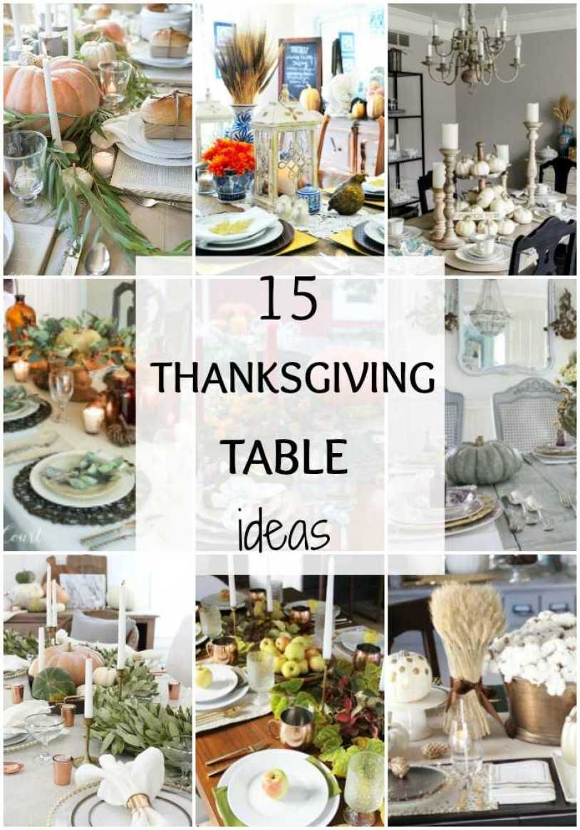 These 15 Gorgeous Thanksgiving Tables have so many different ways you can make Thanksgiving a happy gathering. Make your Thanksgiving table shine this year. See more at http://www.ablissfulnest.com/ #Fall #Thanksgiving #ThanksgivingTable