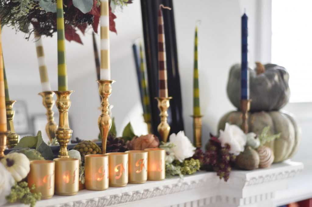 DIY Taper Candles And A Thanksgiving Mantel A Blissful Nest