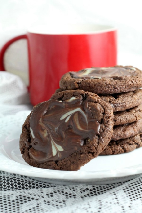 Andes Mint Cookies, 30 Delicious Christmas Cookie Recipes via A Blissful Nest