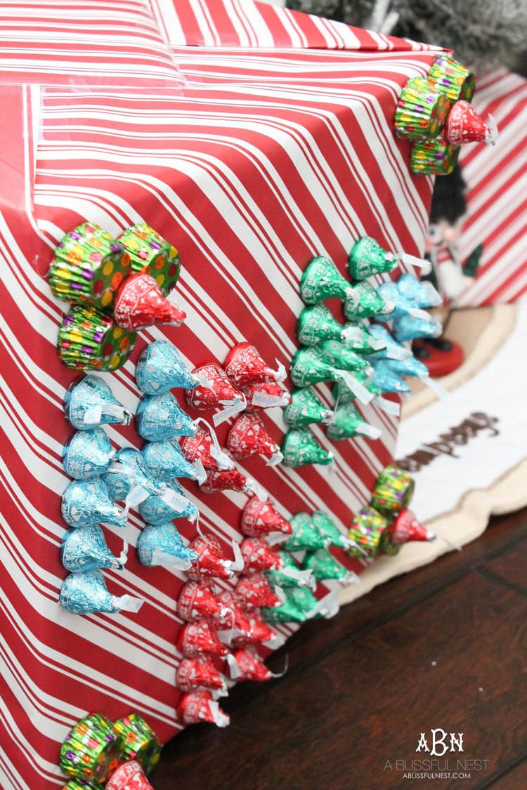 Kiss Mas Gift Wrapping Idea With Hersheys Kisses
