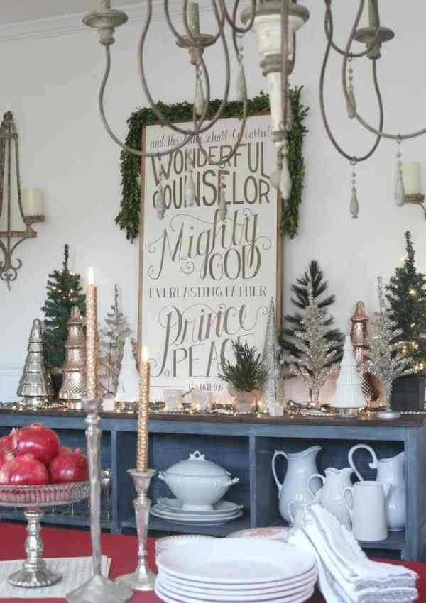 A Layered Christmas Table Scape