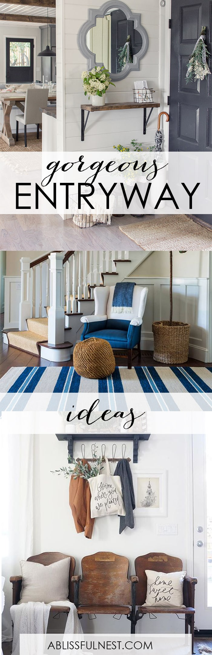 freshen up your home with these gorgeous entryway ideas from coastal to farmhouse and modern