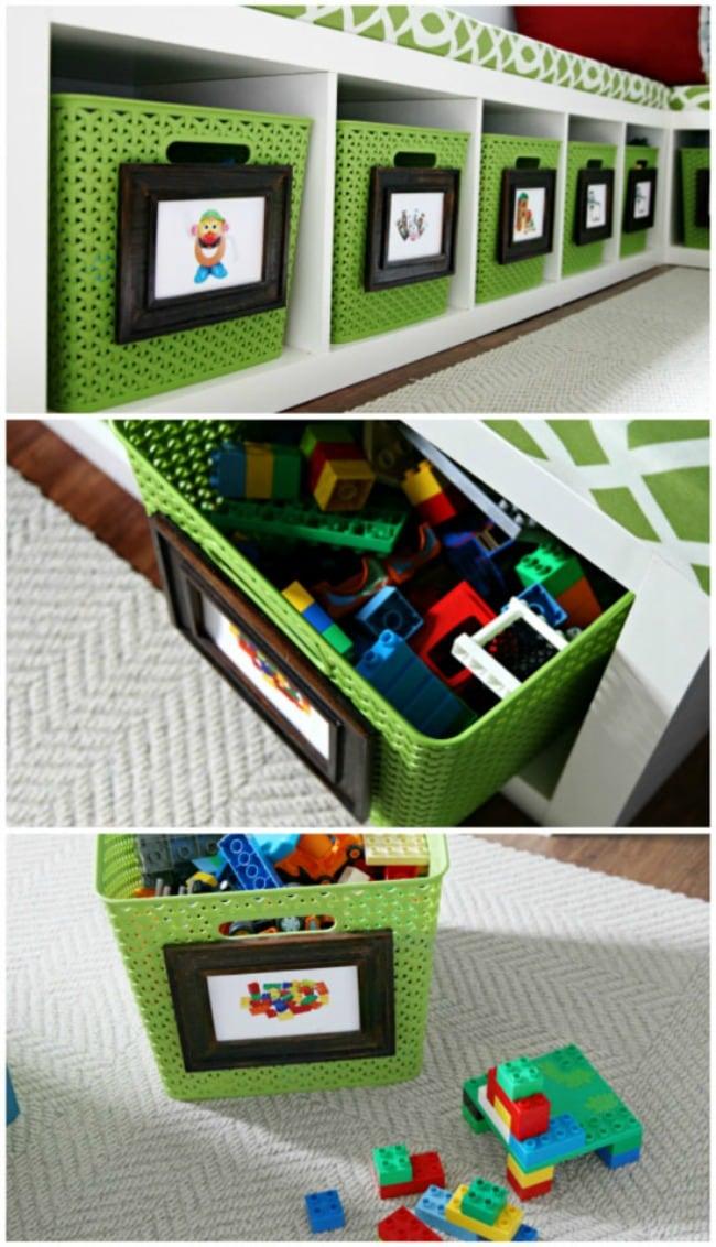 IHeart Organizing, Playroom Organization Ideas via A Blissful Nest