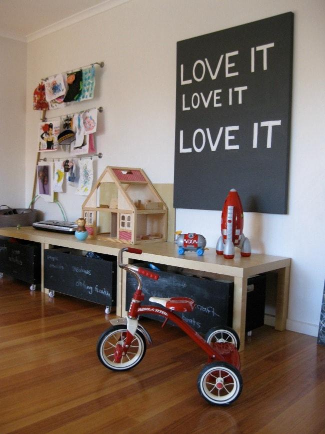 via Flickr, Playroom Organization Ideas via A Blissful Nest