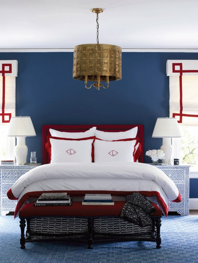Do you love the color red but don't know how to add it into your home decor? We've got design tips just for you on how to use red in your home and paint colors to choose from. Check out A Blissful Nest for more details. https://ablissfulnest.com/ #designtips #interiordesign #reddecor #paintcolor #redpaintcolor