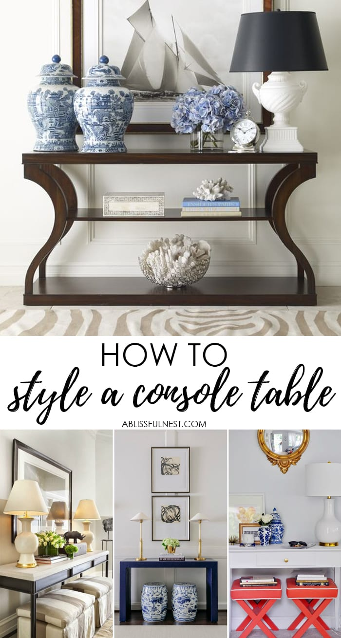 style a console table like a pro with