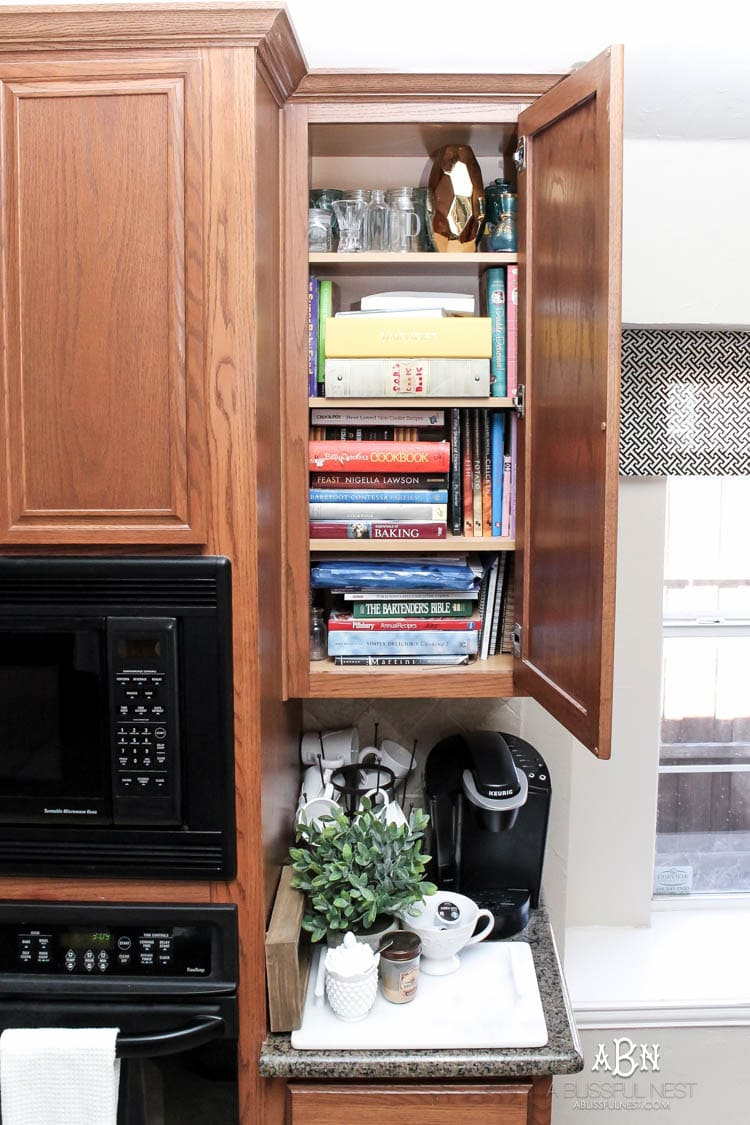 transform a dead cabinet space with these coffee cabinet