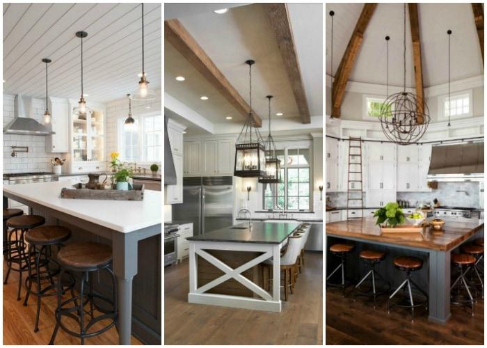 Modern Farmhouse Kitchens for Gorgeous Fixer Upper Style on Farmhouse Kitchen Ideas  id=18193