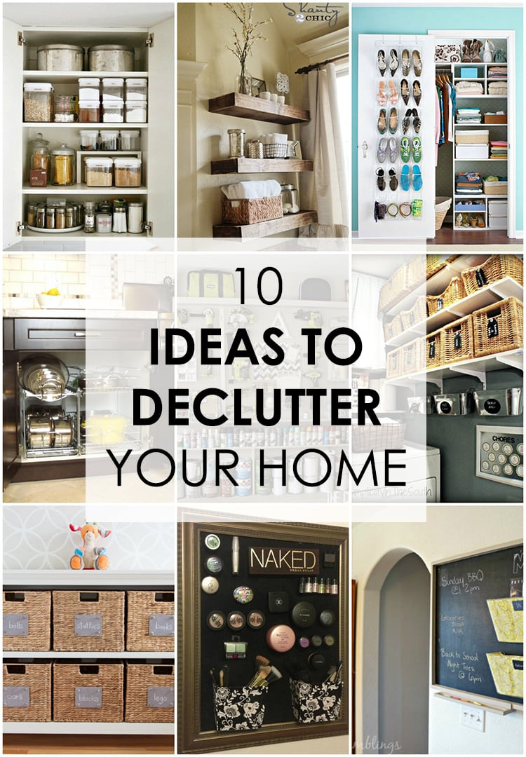 These home organizing ideas are incredible! 10 ideas to declutter your home. See more on https://ablissfulnest.com/