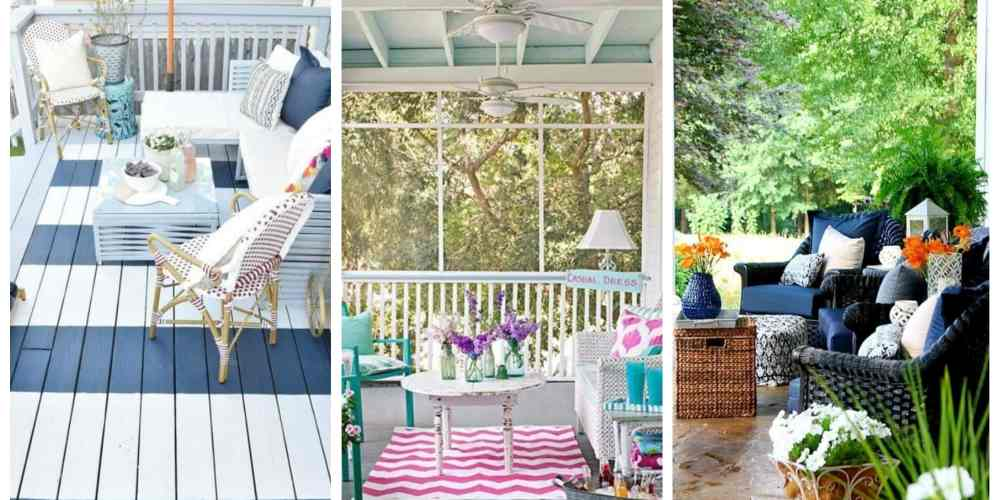 20 Beautiful Summer Front Porches by A Blissful Nest
