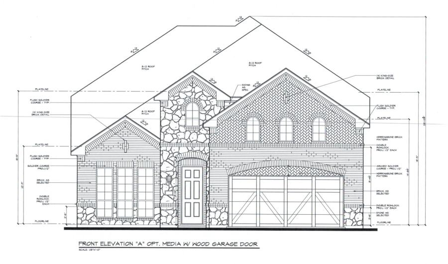 Struggling with how to choose brick for your home? This exterior house plan is beautiful! Love these brick selections for this exterior brick home being built. #exterior #homeexterior #homebuild