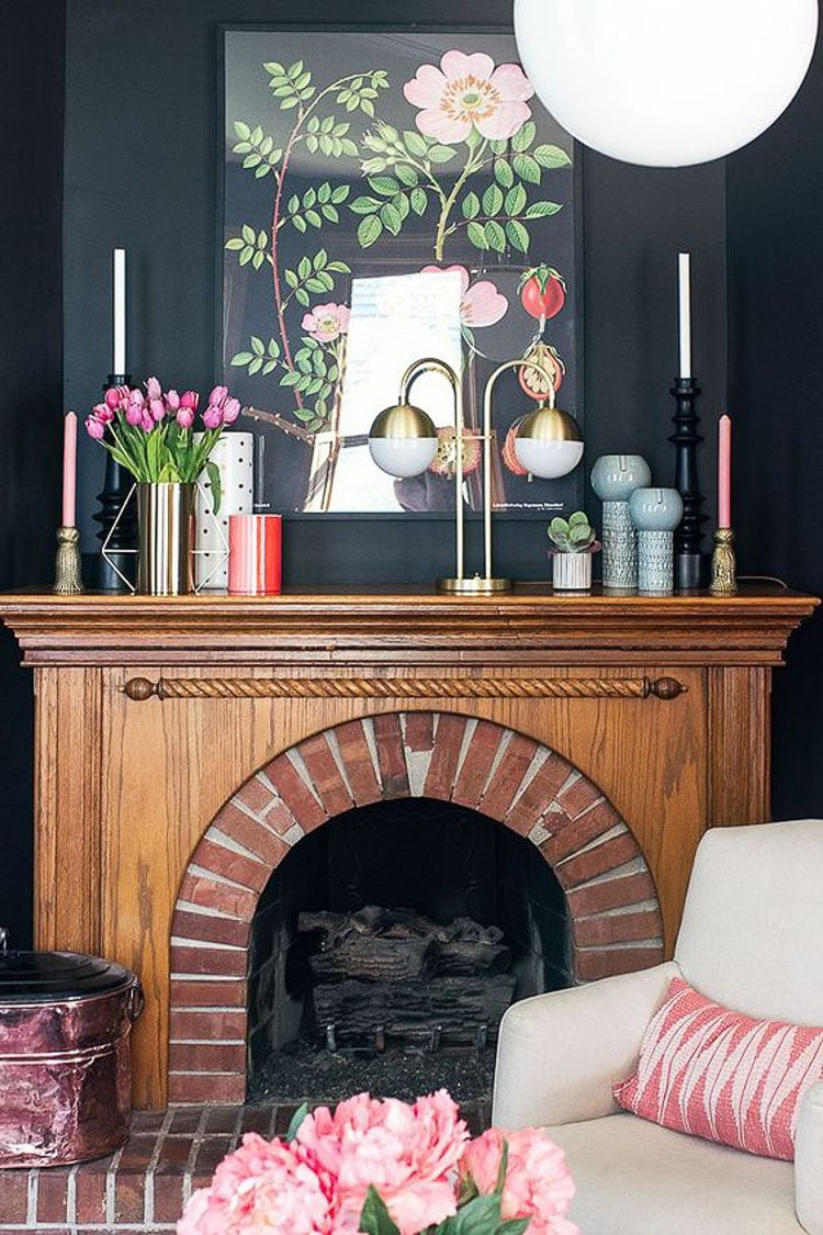 A perfect guide on how to accessorize a mantel and keep a timeless look for your fireplace. For more ideas visit https://ablissfulnest.com #interiortips #designideas #mantelstyling