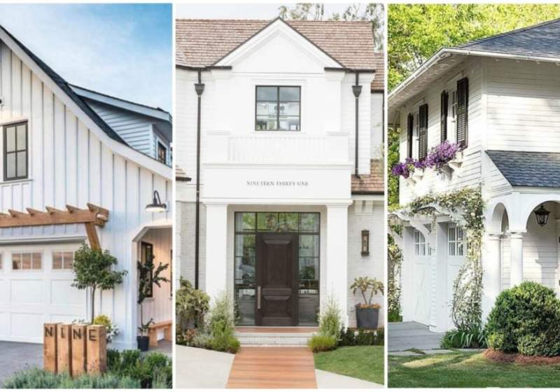 These are the most gorgeous white homes and great tips and ideas to make white paint for your exterior work for the style of home you have.