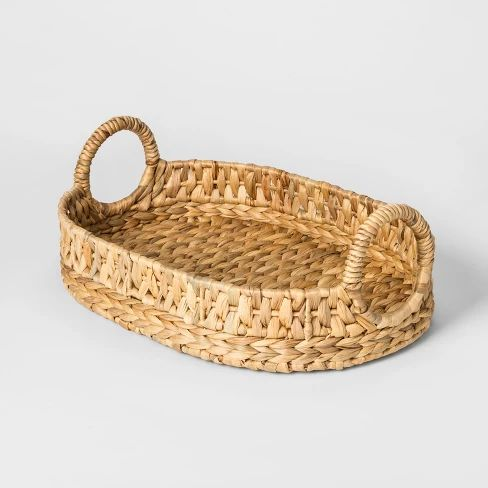 The cutest sea grass tray for your coffee table or kitchen counters.