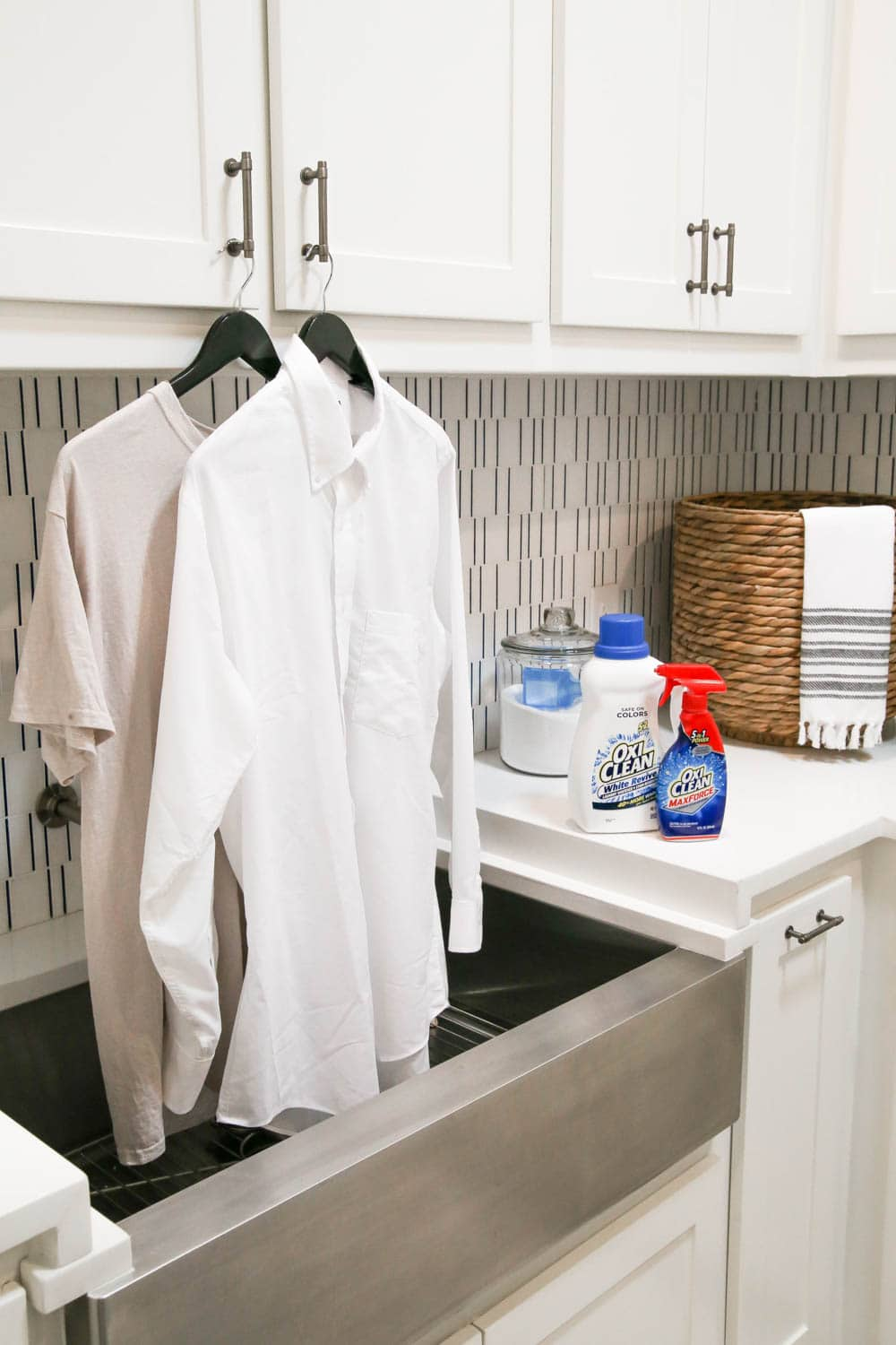 Everyone needs these OxiClean products in their cleaning and Laundry room cabinets to take care of your home. #ad #OxiClean #OxiCleanWOW #SmartSolutions