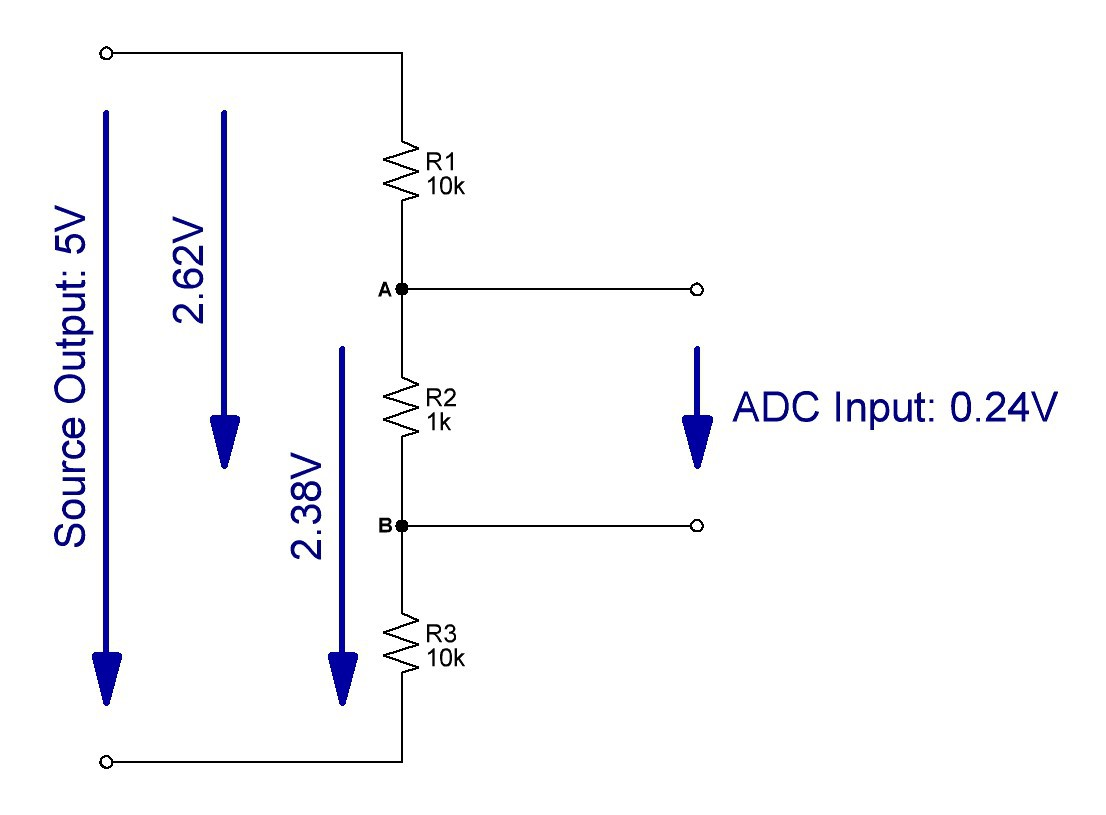 3 Resistor Voltage Divider Calculator