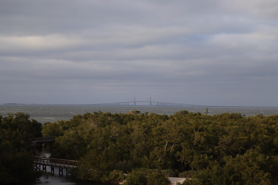 Blick vom Observation Tower zur Sunshine Skyway Bridge