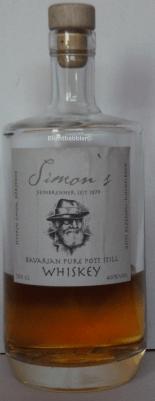 Simon's Bavarian Pure Pott Still Whiskey Flasche