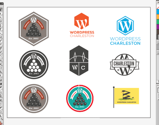 wordpress charleston logo design