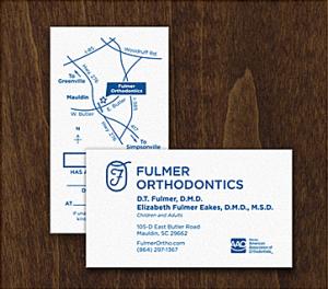 orthodontist business card