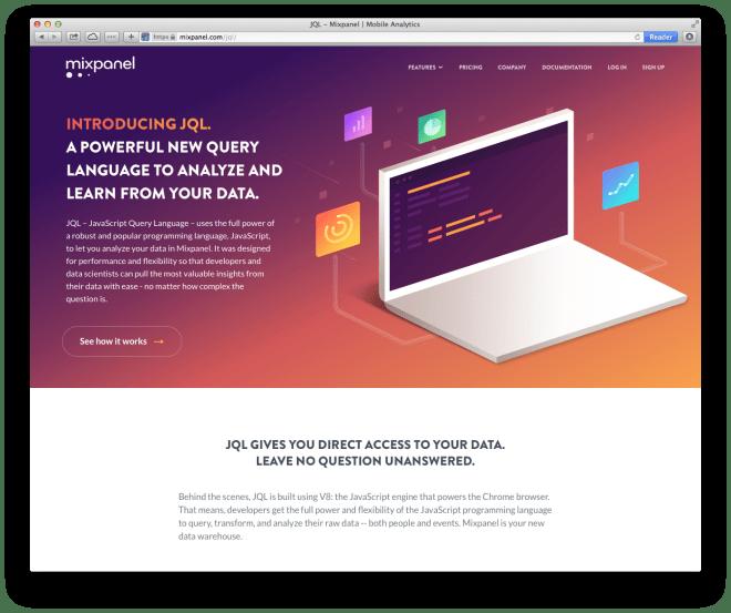 website with gradient