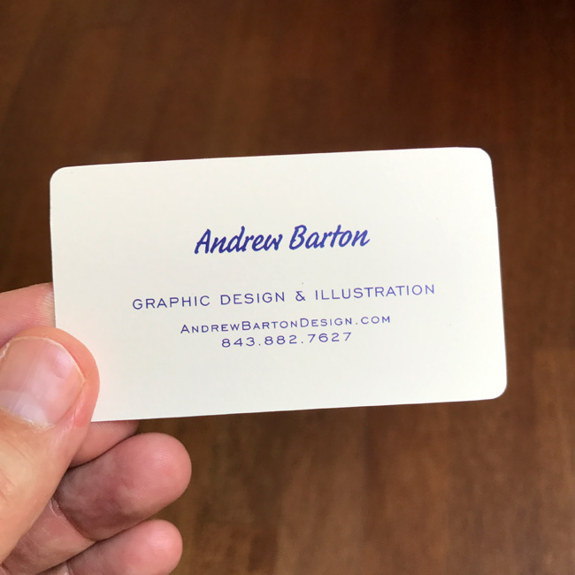 andrew barton business card