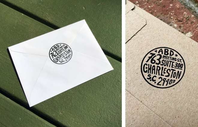 handmade return address stamp
