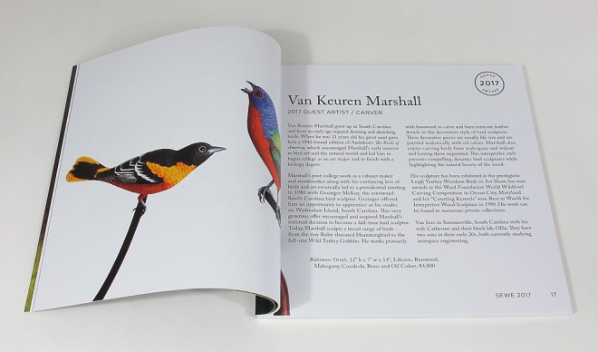 interior spread of art book
