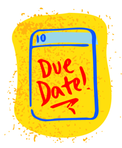 illustration of calendar due date
