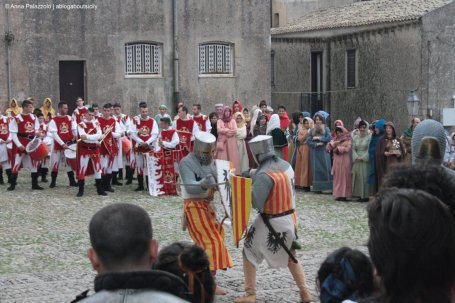 Medieval duel in Erice