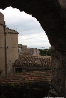 Roofs in a cloudy day Erice Sicily
