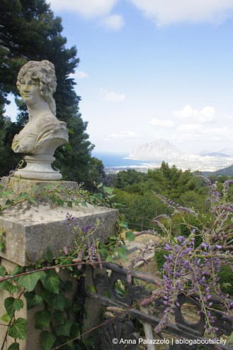 Monte Cofano view from old villa at Valderice