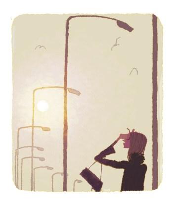 Hot winter in Trapani. Illustration by Tadahiro Uesugi.
